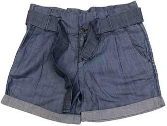 BOSS ORANGE Blue Cotton Shorts for Women