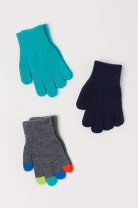H&M 3 Pairs Gloves - Gray