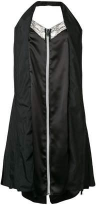 Maison Margiela zip front halter slip dress