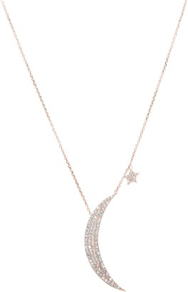 RAGEN Jewels Crescent & Star Pave Pendant Necklace