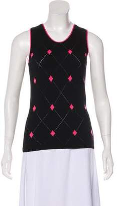 Burberry Cashmere Patterned Top