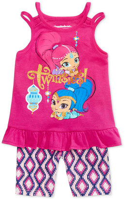 Nickelodeon's Shimmer and Shine 2-Pc. Graphic Tank Top & Bike Shorts Set, Toddler & Little Girls (2T-6X) $34 thestylecure.com