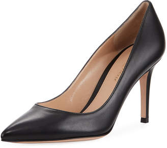 Gianvito Rossi Gianvito 85 Leather Point-Toe Pumps