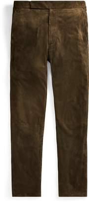 Ralph Lauren Suede Suit Trouser