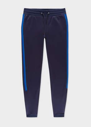 Paul Smith Men's Navy Cotton-Blend Sweatpants With Tape Details