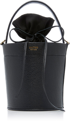 Mateo The Madeline Bucket Bag in Noir