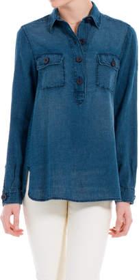 Max Studio indigo linen tunic