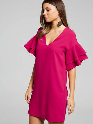 Portmans Dahlia Ruffle Sleeve Shift