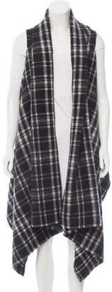 Nicholas Wool Plaid Vest