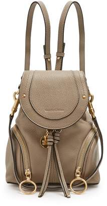 See by Chloe Olga Grained Leather Backpack - Womens - Grey