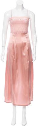 La Perla Lace-Accented Silk Slip w/ Tags $150 thestylecure.com