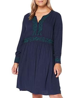 Junarose Women's Jrdelli 3/4 Sl Above Knee Dress - K Blue Black Iris, (Size: 42)