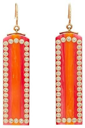Mark Davis Women's Bakelite & White Topaz Drop Earrings