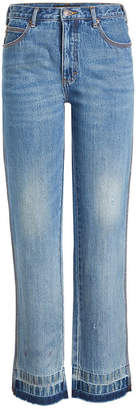 Marc Jacobs Relaxed Jeans with Fringed Ankles