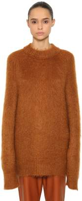 Jil Sander Oversized Mohair & Silk Knit Sweater