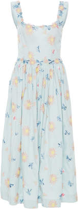 Luisa Beccaria Cotton Embroidered Floral Dress