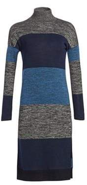 Rag & Bone Bowery Striped Turtleneck Sweaterdress