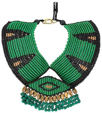 Afroditi Hera colour-block beaded necklace