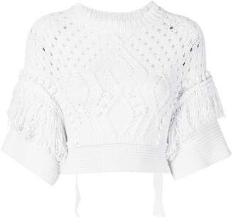 RED Valentino cropped crochet jumper