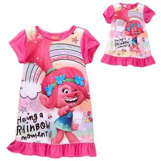 AME Trolls Poppy Having a Rainbow Moment Nightgown & Doll Nightgown Set (Little Girls & Big Girls)
