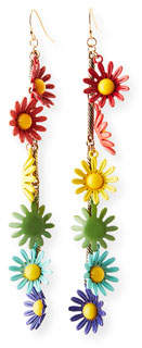 Lulu Frost Moorea Multicolor Daisy Drop Earrings