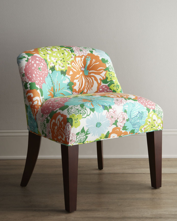 "Lilly Pulitzer Canna"" Vanity Chair"