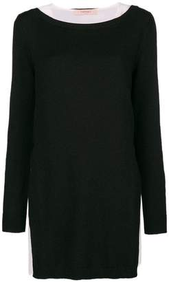Twin-Set pleated hem jumper