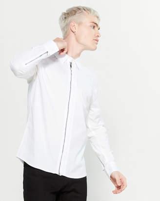 Karl Lagerfeld Paris Zipper Long Sleeve Sport Shirt