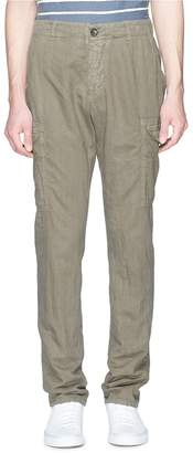 James Perse Linen-cotton canvas cargo pants