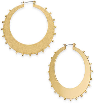 Kate Spade Gold-Tone Studded Hoop Earrings