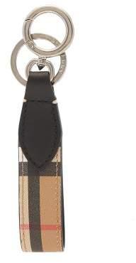 Burberry Vintage Check Leather Keyring - Mens - Tan Multi