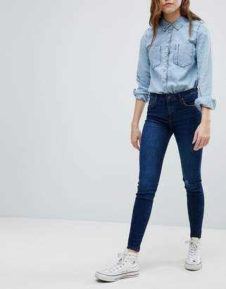 Bershka Worn Knee Skinny Jeans