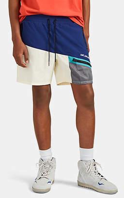 Leon AIMÉ DORE Men's Colorblocked Drawstring Shorts - White