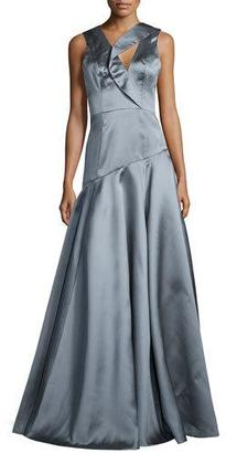 Black Halo Sleeveless Asymmetric Ball Gown $690 thestylecure.com