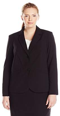 Calvin Klein Women's Plus Size Two Button Lux Blazer
