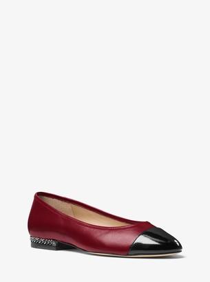 MICHAEL Michael Kors Sabrina Cap-Toe Leather Flat