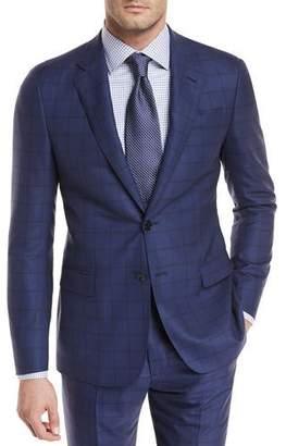 Giorgio Armani Wide Windowpane Wool Two-Piece Suit