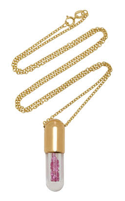 Robinson Pelham 9K Gold Pink Sapphire Necklace
