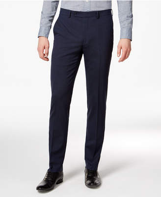 Bar Iii Men's Extra-Slim Fit Stretch Wrinkle-Resistant Blue/Black Check Suit Pants, Created for Macy's $175 thestylecure.com