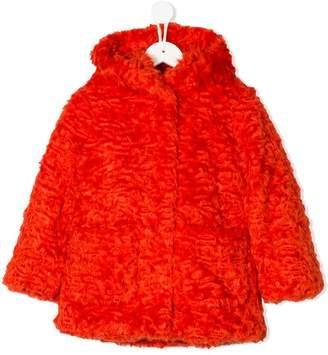 Kenzo faux fur shaggy coat