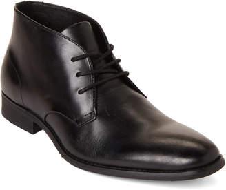 Calvin Klein Black Rolando Leather Chukka Boots
