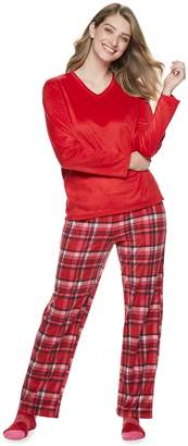 Croft & Barrow Petite Minky Fleece 3-piece Pajama Set