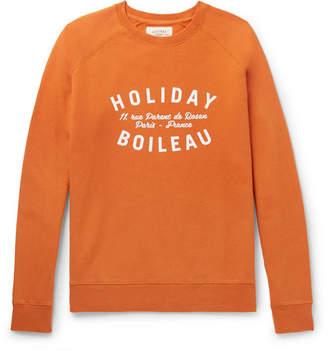 Holiday Boileau - Printed Fleece-Back Cotton-Jersey Sweatshirt - Men - Orange