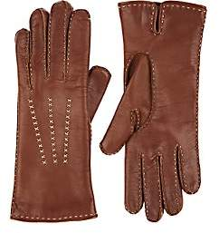 Barneys New York Women's Nappa Leather Gloves - Brown