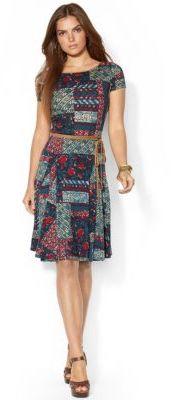 Lauren Ralph Lauren Patchwork Flared Dress