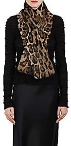Barneys New York Women's Leopard-Print Fur Scarf - Brown