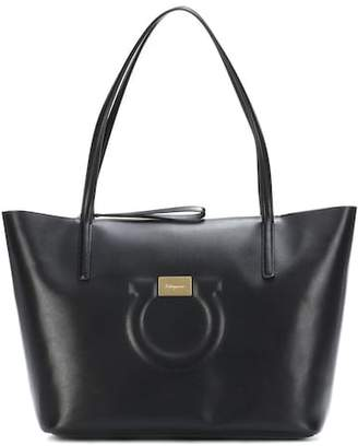Salvatore Ferragamo Gancini leather tote