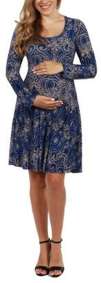 24/7 Comfort Apparel London Maternity Dress-- available in Plus sizes