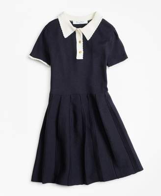 Brooks Brothers Girls Merino Wool-Blend Sweater Dress