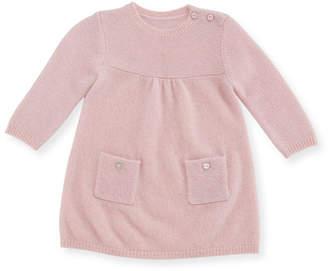 Sofia Cashmere Links Cashmere Knit Dress, Size 3-18 Months